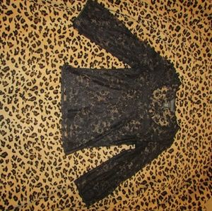 Banana Republic size small black lace top